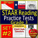 3rd Grade STAAR Test Prep Practice Tests Reading Review Bundle