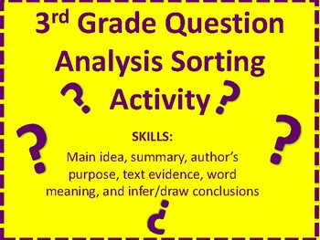 3rd Grade STAAR Reading Prep Question Analysis