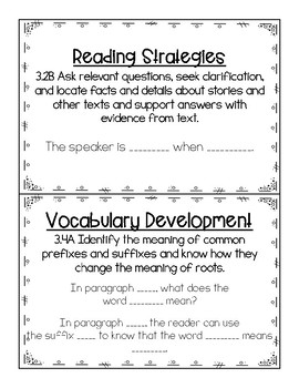 3rd Grade STAAR Reading Question Stems