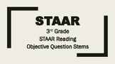 3rd Grade 2018 STAAR Reading Question Stems