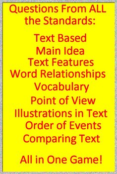 3rd Grade STAAR Reading Review Test Prep Informational Text and Non-Fiction Game