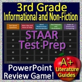 3rd Grade STAAR Test Prep Informational Text and Non-Fiction Reading Review Game
