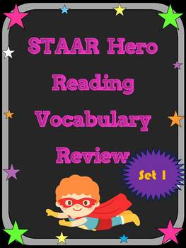 3rd Grade STAAR Reading Vocabulary Review Set 1