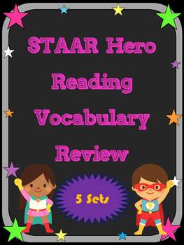 3rd Grade STAAR Reading Vocabulary Review Super Mega Bundle 10% Discount