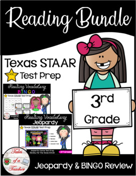 3rd Grade STAAR Review Bundle (Rock-STAAR Bingo & Jeopardy)