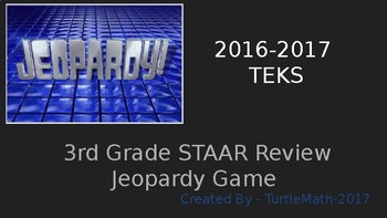 3rd Grade STAAR Review Jeopardy Game - New TEKS - 2017 by ...