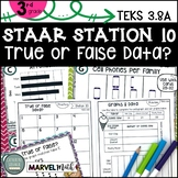 3rd Grade STAAR STATION 10: TRUE OR FALSE DATA? ~ TEKS 3.8A  Graph Math Center