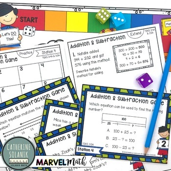3rd Grade STAAR STATION 4: ADDITION & SUBTRACTION ~ TEKS 3.4A 3.5A