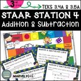 3rd Grade STAAR STATION 4: ADDITION & SUBTRACTION   TEKS 3