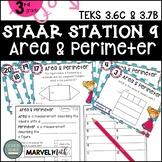 3rd Grade STAAR STATION 9: AREA & PERIMETER ~ TEKS 3.6C 3.7B  Math Center