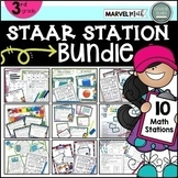 3rd Grade STAAR STATIONS BUNDLE ~ 10 Fun & Engaging Math Centers ~ TEKS Aligned