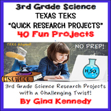 3rd Grade Science TEKS Projects, STAAR Prep Research Projects!