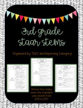 3rd Grade STAAR Stems