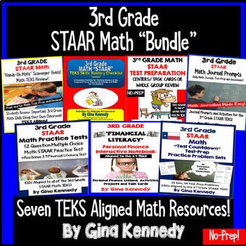 3rd Grade STAAR Test-Prep Math Bundle