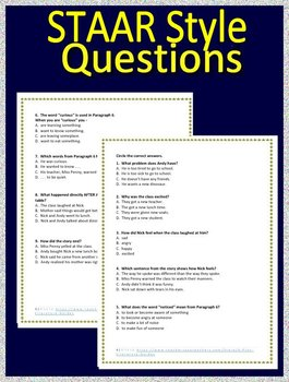 3rd Grade STAAR Test Prep Practice Test Reading Review - FREE!