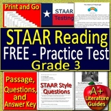 3rd Grade STAAR Test Prep Practice Reading Review - FREE!