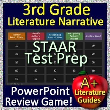 3rd Grade STAAR Test Prep Literature and Narrative Skills Reading Review Game