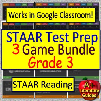 3rd Grade STAAR Reading Review Test Prep Game Bundle