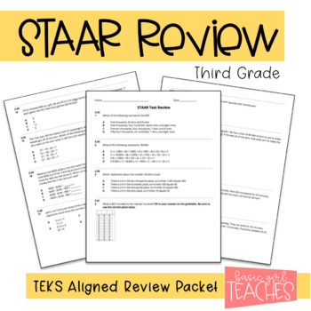 3rd Grade STAAR Math Practice Review