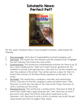 3rd Grade Scholastic News Activities 2016-2017