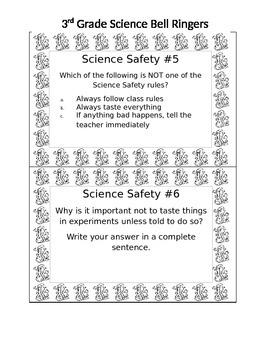3rd Grade Science Bell Ringers