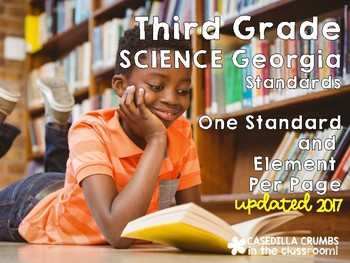 Third Grade Science Georgia Standards of Excellence