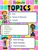 3rd Grade Science Choice Boards  **EDITABLE**
