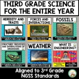 3rd Grade Science NGSS Entire Year Bundle