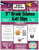 Exit Slips- 3rd Grade Science