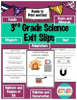 Exit Slips- 3rd Grade Science