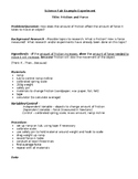 3rd Grade Science Fair Example Experiment - Friction - Answer Key