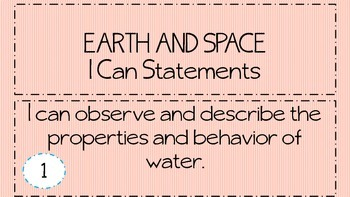 "3rd Grade Science ""I Can Statements"""