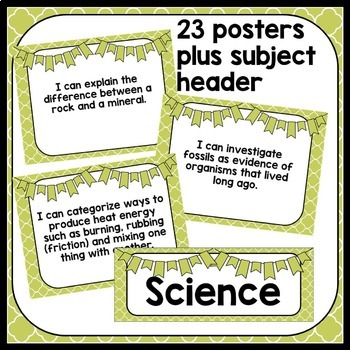 3rd Grade Georgia Science Standards: I Can Statements