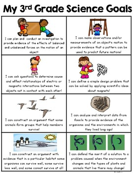 3rd Grade  Science I Can Statements (Next Generation Science Standards)