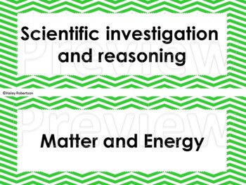 "3rd Grade Science ""I can"" statements- Chevron pattern (using TEKS)"