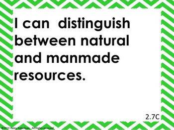 """2nd Grade Science """"I can"""" statements- Chevron pattern (using TEKS)"""