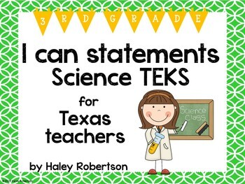 "3rd Grade Science ""I can"" statements- Circle pattern (using TEKS)"