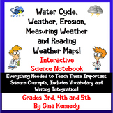 Weather, Water Cycle and Erosion Interactive Notebook; Les