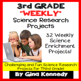 3rd Grade Science Projects, Weekly Research All Year! PDF and Digital!