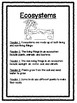 Science Buddy Reading: Ecosystems