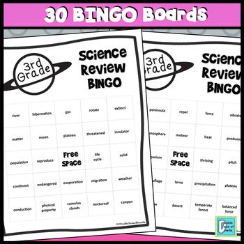 3rd Grade Science Review BINGO