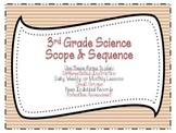3rd Grade Science Scope & Sequence