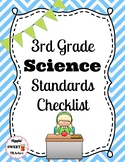 3rd Grade Science Standards Checklist (NGSS aligned)