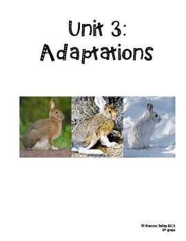 3rd Grade Science Study Guide--Adaptations