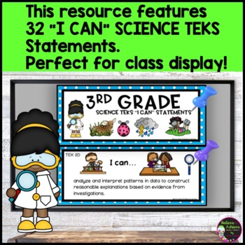 3rd Grade Science TEKS I CAN Statements (*** New Streamlined TEKS!)
