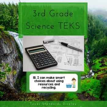 3rd Grade Science TEKS I Can
