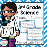 3rd Grade Science TEKS I Can... Statements (Blue Chevron)