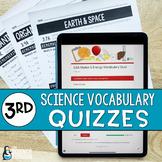 3rd Grade Science TEKS Vocabulary Quizzes