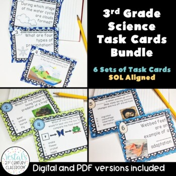 3rd Grade Science Task Card Bundle