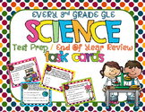 3rd Grade Science Test Prep/Year-End Review Task Cards - E